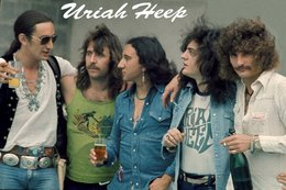 Uriah Heep Rock Band Original Postcard In Near Mint Condition, Made In England 005 - Cartes Postales