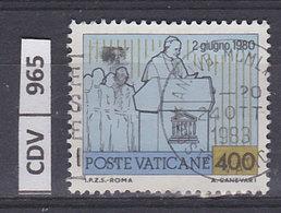 VATICANO 1981Viaggi Giovanni Paolo II L. 400 Usato - Vaticano