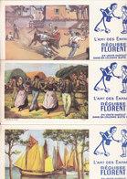 BUVARD LOT DE 3 REGLISSE FLORENT - Buvards, Protège-cahiers Illustrés