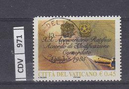 VATICANO    2005Modifica Del Concordato 0,45 Usato - Vaticano