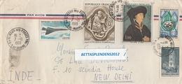 LSC 1969 - Enveloppe Pour INDE / NEW DELHI - Cachet St Maur Des Fossés Sur YT 1586 & YT 1587 & YT 1612 & PA 43 - 1961-....