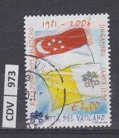 VATICANO    2006Relazioni Diplomatiche Con Singapore 2,00 Usato - Vaticano