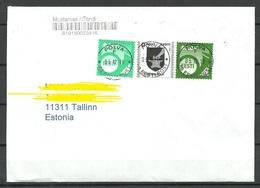 ESTLAND 2018 Domestic Cover Posthorn Etc O Põlva - Estonie