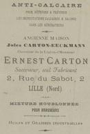 """Interessante Brief :van Ernest Carton Te Lille (Nord) Overgebracht Naar Kantoor Te """"Tournai"""" 8 Avril 1880 Naar Gand - 1869-1883 Leopold II"""