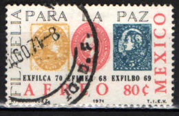 MESSICO - 1971 - FILATELIA PER LA PACE - USATO - Messico
