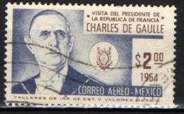 MESSICO - 1964 - VISITA DEL PRESIDENTE FRANCESE CHARLES DE GAULLE IN MESSICO - USATO - Messico