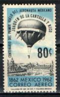 MESSICO - 1962 - CENTENARIO DELLA PRIMA ASCENSIONE CON LA MONGOLFIERA DA PARTE DI JOAQUIN DE LA CANTOLLA Y RICO - USATO - Messico