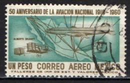 MESSICO - 1960 - AVIAZIONE NAZIONALE - CINQUANTENARIO - ALBERTO BRANIFF ED IL SUO AEROPLANO NEL 1910 E DOUGLAS - USATO - Messico