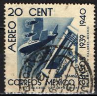 MESSICO - 1939 - TRASPORTI AEREI - USATO - Messico