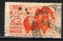 MESSICO - 1950 - POSTINO IN MOTO - POSTA ESPRESSA - USATO - Messico