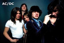 AC/DC Rock Band Original Postcard In Near Mint Condition, Made In Spain 004 - Cartes Postales