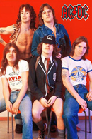 AC/DC Rock Band Original Postcard In Near Mint Condition, Made In Spain 005 - Cartes Postales