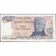 TWN - ARGENTINA 315a - 100 Pesos Argentinos 1983-85 Serie B - Signatures: Lopez & Del Solar UNC - Argentine