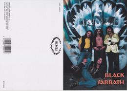 Black Sabbath Rock Band Original Postcard In Near Mint Condition. 002 - Postcards