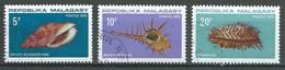 Madagascar YT N°477/479 Coquillages Oblitéré ° - Madagascar (1960-...)
