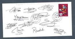 AUTOGRAPHE JOUEUR FOOTBALL.. JPP PAPIN MICOUD PAVON WILTORD RICARDINHO RAME LUCCIN GRENET   GIRONDINS BORDEAUX 1997/98 - Calcio