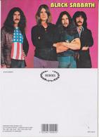 Black Sabbath Rock Band Original Postcard In Near Mint Condition. 006 - Postcards