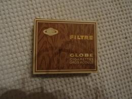 ETUI DE 20 CIGARETTES VIDE - GLOBE FILTRE - GROS MODULE - LE TABAC DU GLOBE - ALGER - Empty Cigarettes Boxes