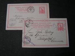Greece Two Old Cards - 1900-01 Aufdruck Auf Hermes & Olympische Spiele