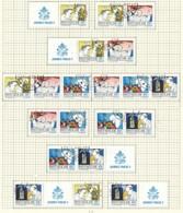 VATIKAN Mi.Nr. 853,856-858 Freimarken: Die Weltreisen Von Papst Johannes Paul II - ZD Aus Markenheft - Siehe Scan - Used - Used Stamps