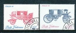 VATIKAN Mi.Nr. 880-881, Block 8 Internationale Briefmarkenausstellung ITALIA '85, Rom - Siehe Scan - Used - Used Stamps