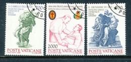 VATIKAN Mi.Nr. 894-896 100. Jahrestag Der Proklamation Der Heiligen Camillo De Lellis  - Siehe Scan - Used - Used Stamps