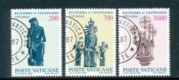 VATIKAN Mi.Nr. 913-915 600. Jahrestag Der Christianisierung Litauens - Siehe Scan - Used - Vatican