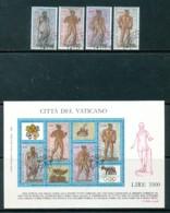 VATIKAN Mi.Nr. 916-919, Block 9 Internationale Briefmarkenausstellung OLYMPHILEX '87, Rom - Siehe Scan - Used - Vatican