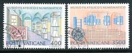 VATIKAN Mi.Nr. 924-925 Einweihung Des Philatelistischen Und Numismatischen Museums Des Vatikan - Siehe Scan - Used - Vatican