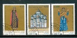 VATIKAN Mi.Nr. 946-948 1000. Jahrestag Der Christianisierung Des Großfürstentums Kiew - Siehe Scan - Used - Vatican