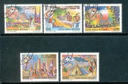 VATIKAN Mi.Nr. 952-956 Die Weltreisen Von Papst Johannes Paul II. - Siehe Scan - Used - Vatican