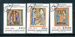 VATIKAN Mi.Nr. 973-975 600 Jahre Fest Mariä Heimsuchung: Initialen - Siehe Scan - Used - Vatican