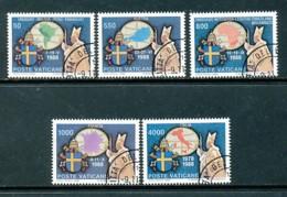 VATIKAN Mi.Nr. 988-992 Die Weltreisen Von Papst Johannes Paul II - Siehe Scan - Used - Vaticano (Ciudad Del)