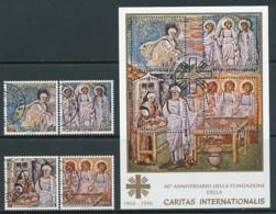VATIKAN Mi. Nr. 1002-1005, Block 40 Jahre Caritas Internationalis - Siehe Scan -used - Vaticano (Ciudad Del)