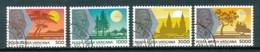 VATIKAN Mi. Nr. 1014-1017 Die Weltreisen Von Papst Johannes Paul II - Siehe Scan -used - Used Stamps