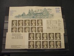 GRAN BRETAGNA - 2 LIBRETTI MUSEUM LONDON LGS. 1,15 - D. E S. -.NUOVI(++) - Libretti