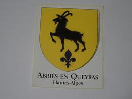 Blason écusson Adhésif Autocollant Abriès En Queyras (Hautes Alpes) - Obj. 'Souvenir De'