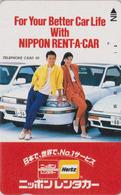 Télécarte Japon / 110-35707 - FEMME Pub Location Voiture HERTZ ** ONE PUNCH ** - Woman Girl Japan Phonecard - 3714 - Publicité