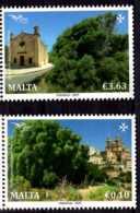 2017 Malta -Trees Of Mideterranien -Joint Of Med Posts - 2v MNH** Mi 1967/8 (gg17) - Malta