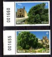 2017 Malta -Trees Of Mideterranien -Joint Of Med Posts - 2v With Numbered Sheetlet Tabs MNH** Mi 1967/8 (gg17) - Malta