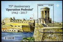 2017 Malta - Operation Pedestal - World War II Supply To Malta Operation - MS - MNH** MI B 72 (gg17) - Malta