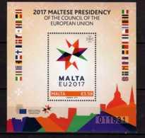 2017 Malta - Maltese Presidency Of The Council Of The European Union - MS MI B 71 - MNH** (gg17) - Malta