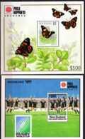 1991 New Zealand - Phila Nippon 91 - Set Of 2 MS - Rugby WC 1991 + Butterflies - MNH** MI B 30/31 - KW - 29 Mie - Neuseeland