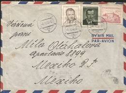 L) 1950 CZECHOSLOVAKIA, KLEMENT, PRESIDENT, ISVERMA, PEOPLE, CITY OF ZVOLEN, ARCHITECTURE, PINK, CIRCULATED COVER FROM - Czechoslovakia