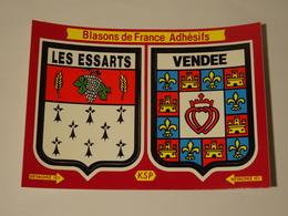 Blason écusson Adhésif Autocollant Les Essarts Vendée - Obj. 'Souvenir De'