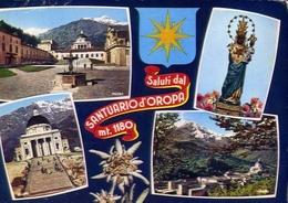 Saluti Dal Santuario D'oropa - 186 - Formato Grande Viaggiata Mancante Di Affrancatura – E 9 - Vercelli