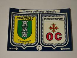 Blason écusson Adhésif Autocollant Aurignac Comminges Occitanie - Obj. 'Souvenir De'
