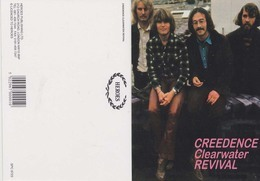 Creedence Clearwater Revival Original Postcard In Near Mint Condition, Made In England Mega Rare 04 - Cartes Postales