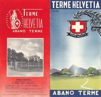 """07603 """"TERME HELVETIA - ABANO TERME - PIEGHEVOLE PUBBLICITARIO"""" ORIG. 1949 - Dépliants Touristiques"""