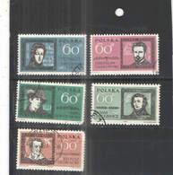 Polonia  PO 1962 Polacchi Famosi   Scott.1059/1063+See Scan On Schaubek Page; - 1944-.... Repubblica